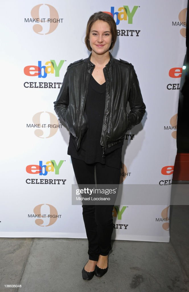 Actress Shailene Woodley attends eBay Celebrity and Brad Pitt's Make It Right Celebrate Pop-Up Gallery Exhibition at Chelsea Market on February 8, 2012 in New York City.