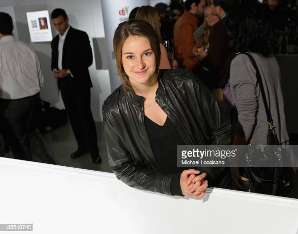 Actress Shailene Woodley attends eBay Celebrity and Brad Pitt's Make It Right Celebrate PopUp Gallery Exhibition at Chelsea Market on February 8 2012...