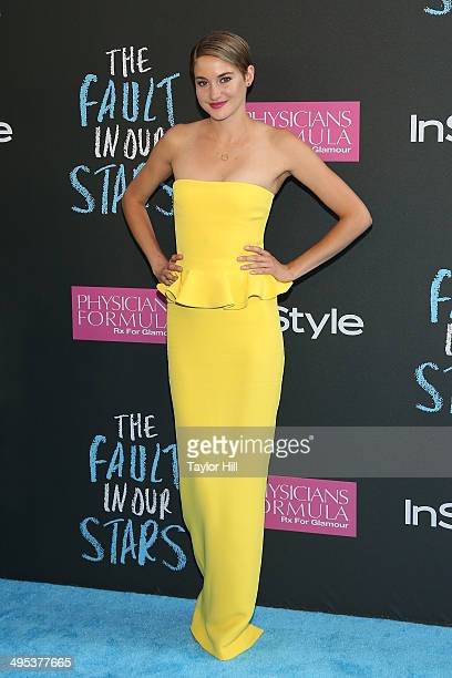 """Actress Shailene Woodley attends """"The Fault In Our Stars"""" premiere at Ziegfeld Theater on June 2, 2014 in New York City."""
