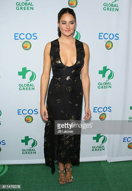 Actress Shailene Woodley attends the Global Green 20th Anniversary Environmental Awards on September 29 2016 in Los Angeles California
