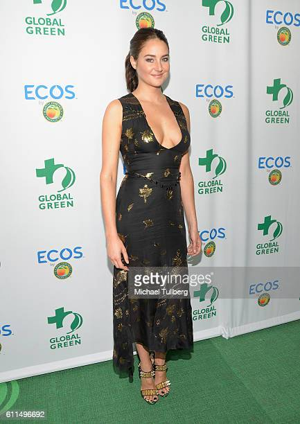 Actress Shailene Woodley attends the Global Green 20th Anniversary Environmental Awards at Alexandria Ballrooms on September 29 2016 in Los Angeles...