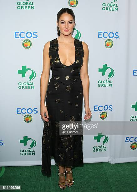 Actress Shailene Woodley attends the Global Green 20th Anniversary Environmental Awards at Alexandria Ballroo on September 29 2016 in Los Angeles...