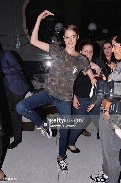 Actress Shailene Woodley attends the Marie Claire The Cinema Society screening of Summit Entertainment's 'Divergent' after party at The Wayfarer on...