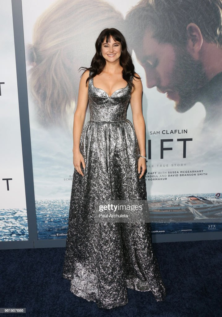 Actress Shailene Woodley attends the premiere of STX Films' 'Adrift' at Regal LA Live Stadium 14 on May 23, 2018 in Los Angeles, California.