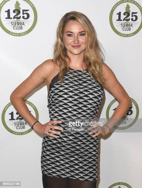 Actress Shailene Woodley attends the Sierra Club's 125th Anniversary Trail Blazer's Ball at Innovation Hangar on May 18 2017 in San Francisco...
