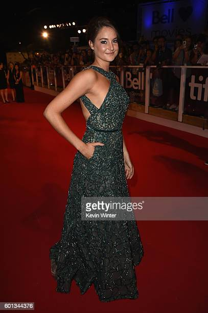 Actress Shailene Woodley attends the 'Snowden' premiere during the 2016 Toronto International Film Festival at Roy Thomson Hall on September 9 2016...