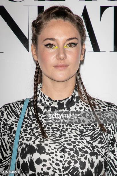 Actress Shailene Woodley attends the Vogue diner as part of Paris Fashion Week - Haute Couture Fall Winter 2020 at Le Trianon on July 02, 2019 in...