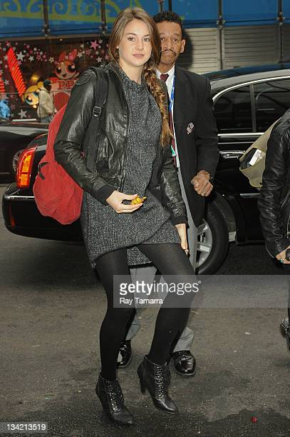 Actress Shailene Woodley enters the 'Good Morning America' taping at the ABC Times Square Studio on November 28 2011 in New York City