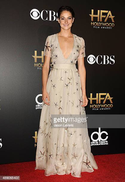 Actress Shailene Woodley poses in the press room at the 18th annual Hollywood Film Awards at Hollywood Palladium on November 14 2014 in Hollywood...