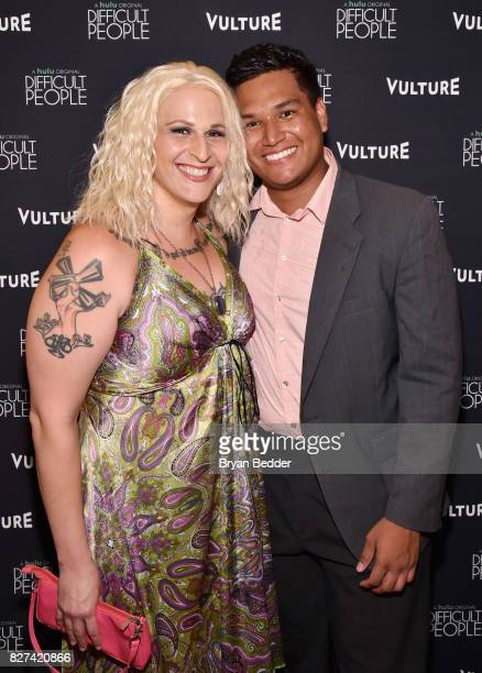 Actress Shakina Nayfack and Daniel Bracamontes attend Vulture Hulu's screening of 'Difficult People' on August 7 2017 in New York City
