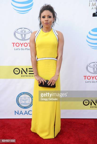 Actress Shalita Grant arrives at the 48th NAACP Image Awards at Pasadena Civic Auditorium on February 11 2017 in Pasadena California