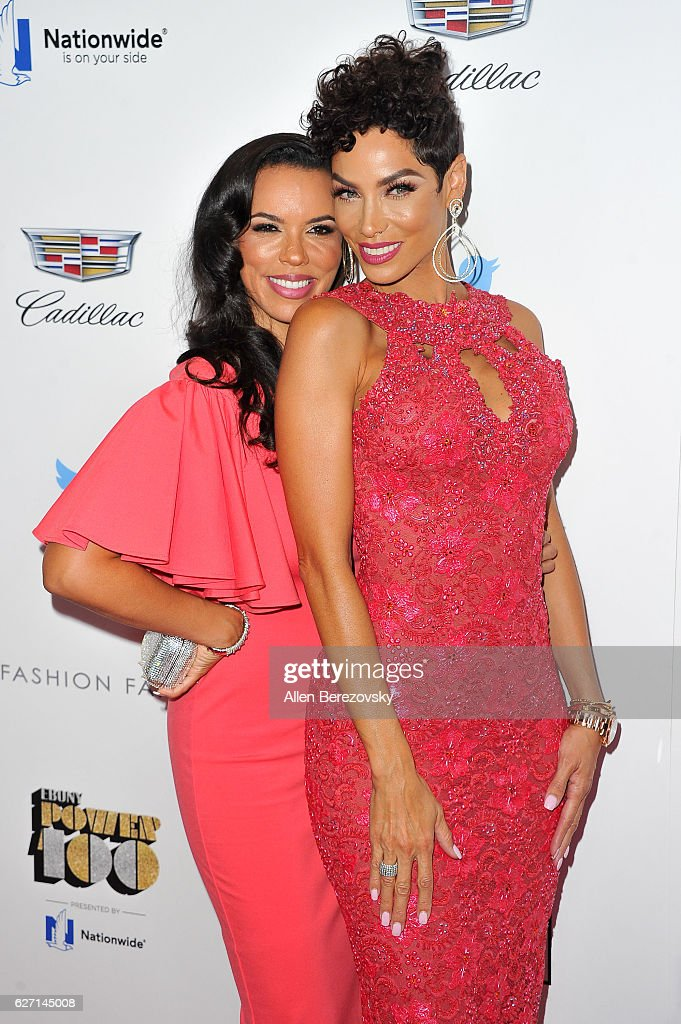 Actress Shamicka Lawrence (L) and model Nicole Murphy attend 2016 Ebony Power 100 Gala at The Beverly Hilton Hotel on December 1, 2016 in Beverly Hills, California.