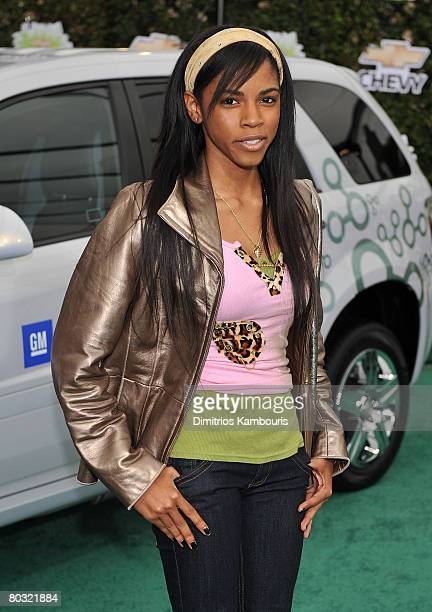 Actress Shanica Knowles arrives at Chevy Rocks The Future at the Buena Vista Lot at The Walt Disney Studios on February 19 2008 in Burbank California