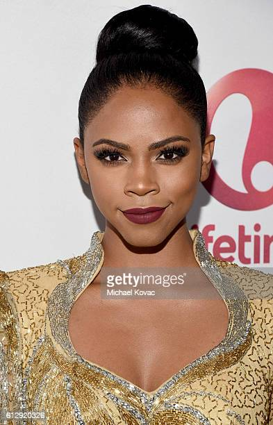 Actress Shanica Knowles attends Lifetime Television's Surviving Compton Dre Suge Michel'le Broad Focus Screening Event at The London West Hollywood...