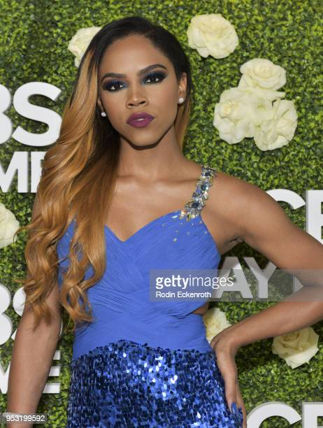 Actress Shanica Knowles attends the CBS Daytime Emmy After Party at Pasadena Convention Center on April 29 2018 in Pasadena California