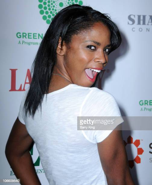 Actress Shanica Knowles attends the Environmental Charter Schools Green Ambassador Awards at Blackwelder LA on November 6 2010 in Culver City...