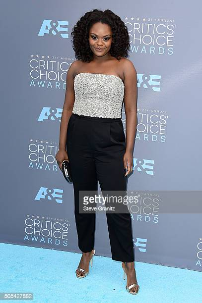 Actress Shanice Williams attends the 21st Annual Critics' Choice Awards at Barker Hangar on January 17 2016 in Santa Monica California