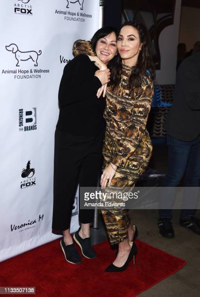 Actress Shannen Doherty and comedian Whitney Cummings attend The Animal Hope Wellness Foundation's 2nd Annual Compassion Gala at Playa Studios on...