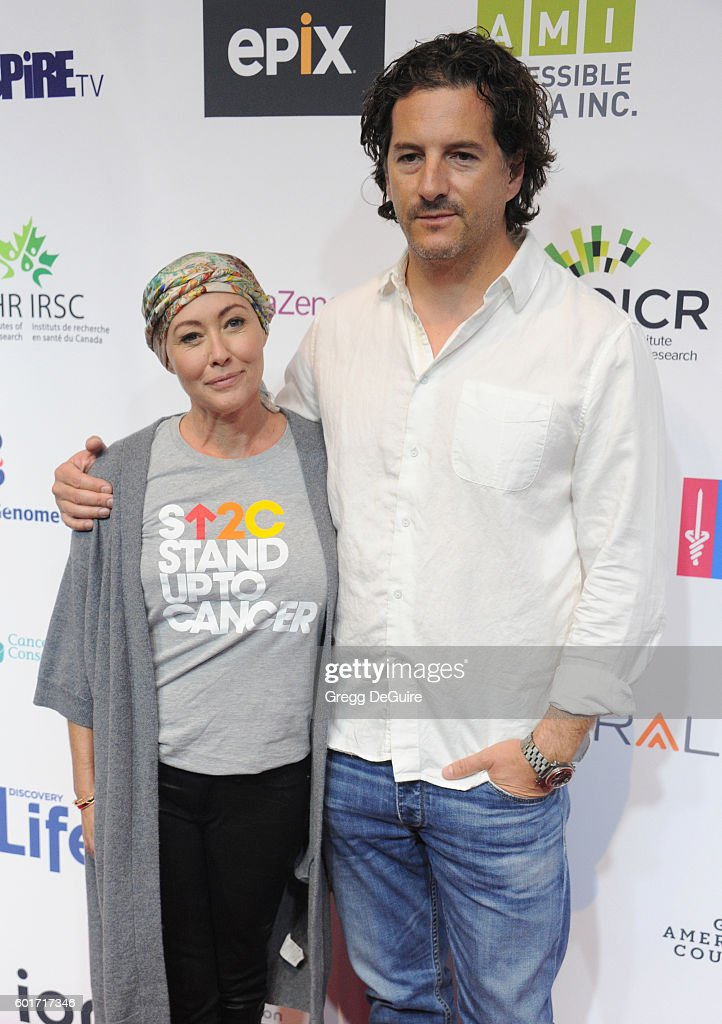 Actress Shannen Doherty and husband Kurt Iswarienko attend Hollywood Unites for the 5th Biennial Stand Up To Cancer (SU2C), A Program of The Entertainment Industry Foundation (EIF) at Walt Disney Concert Hall on September 9, 2016 in Los Angeles, California.