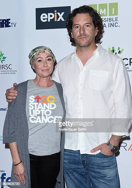 Actress Shannen Doherty and husband Kurt Iswarienko attend Hollywood Unites for the 5th Biennial Stand Up To Cancer A Program of The Entertainment...