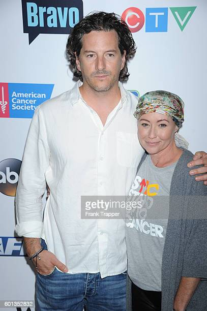 Actress Shannen Doherty and husband Kurt Iswarienko attend Stand Up To Cancer 2016 held at Walt Disney Concert Hall on September 9 2016 in Los Angeles
