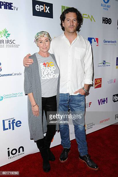 Actress Shannen Doherty and husband Kurt Iswarienko attend Stand Up To Cancer 2016 at Walt Disney Concert Hall on September 9 2016 in Los Angeles...