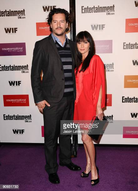 Actress Shannen Doherty and Kurt Iswarienko attend Entertainment Weekly And Women In Film's 7th annual preEmmy party at Restaurant at The Sunset...