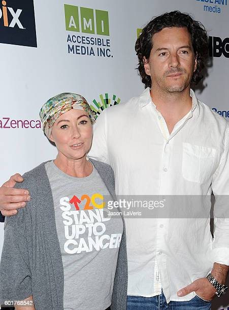 Actress Shannen Doherty and Kurt Iswarienko attend Hollywood Unites For The 5th Biennial Stand Up To Cancer A Program Of The Entertainment Industry...