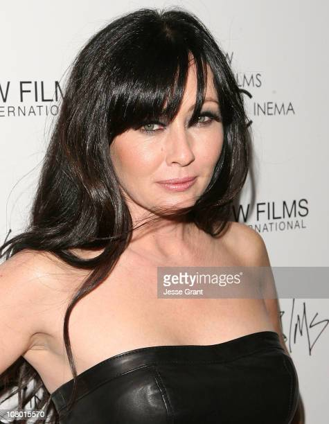 Actress Shannen Doherty arrives at New Films Cinema's Premiere of 'Burning Palms' held at ArcLight Cinemas on January 12 2011 in Hollywood California