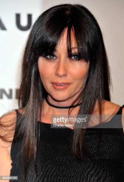 Actress Shannen Doherty attends Flaunt Magazine's 10th Anniversary Party at a private residence on December 18 2008 in Los Angeles California