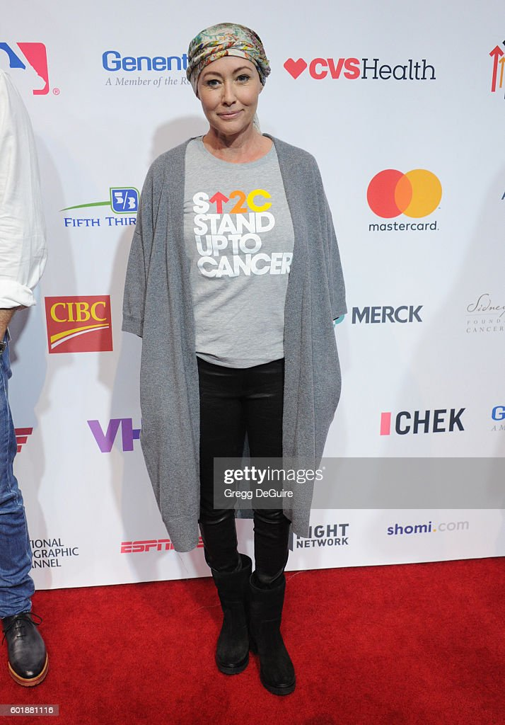 Actress Shannen Doherty attends Hollywood Unites for the 5th Biennial Stand Up To Cancer (SU2C), A Program of The Entertainment Industry Foundation (EIF) at Walt Disney Concert Hall on September 9, 2016 in Los Angeles, California.