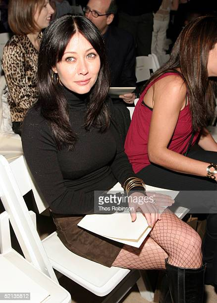 Actress Shannen Doherty attends the Joseph Abboud Fall 2005 fashion show during Olympus Fashion Week February 4, 2005 in New York City.