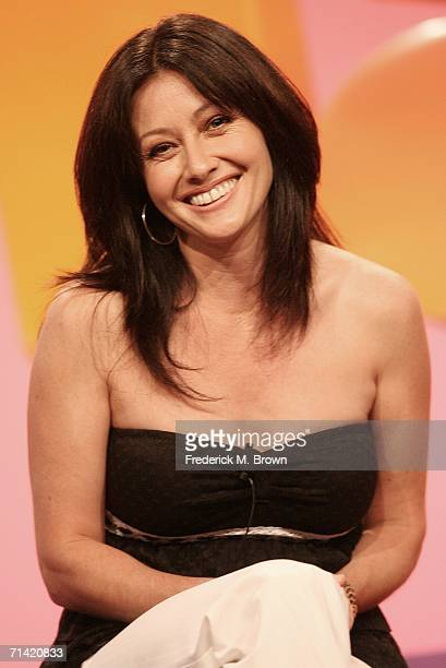 Actress Shannen Doherty speaks during the 2006 Summer Television Critics Press Tour for the Oxygen Network at the Ritz Carlton Hotel July 11 2006 in...
