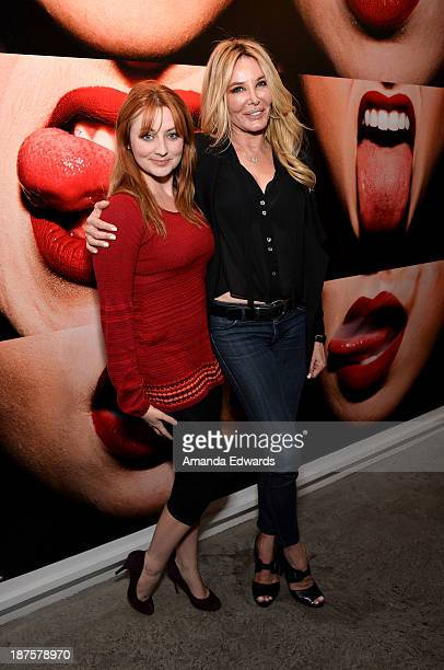Actress Shannon Collis and producer Christine Peters attend the launch party for photographer Tyler Shields's new book The Dirty Side Of Glamour at...