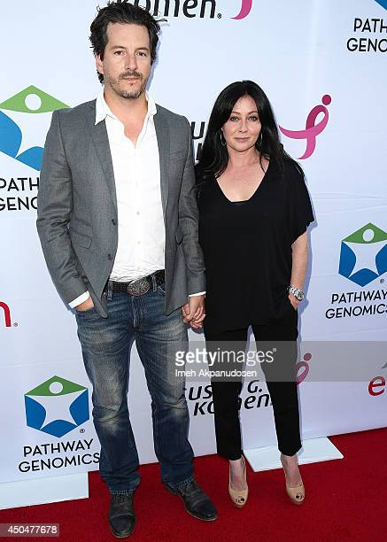 Actress Shannon Doherty and husband Kurt Iswarienko attend the Pathway To The Cures For Breast Cancer fundraiser benefiting Susan G Komen presented...