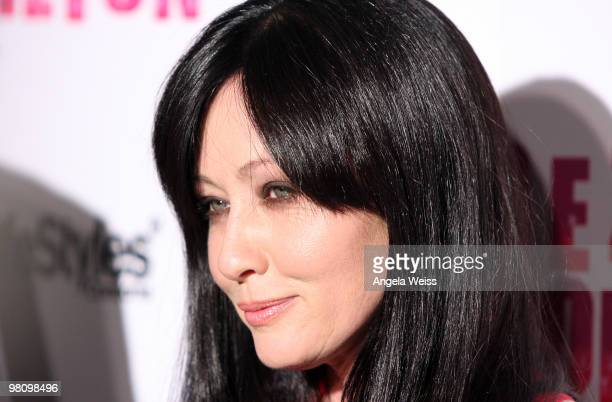 Actress Shannon Doherty attends Perez Hilton's 'CarnEvil' 32nd birthday party at Paramount Studios on March 27 2010 in Los Angeles California