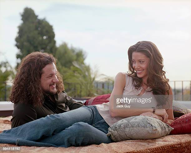 Actress Shannon Elizabeth and Joseph Reitman are photographed for InStyle Magazine in 2004 at home in Los Angeles, California.
