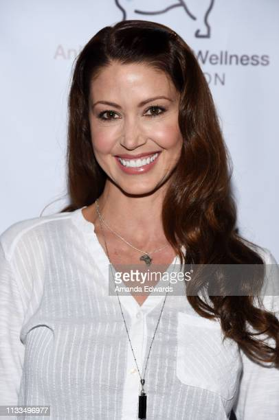 Actress Shannon Elizabeth attends The Animal Hope Wellness Foundation's 2nd Annual Compassion Gala at Playa Studios on March 03 2019 in Culver City...