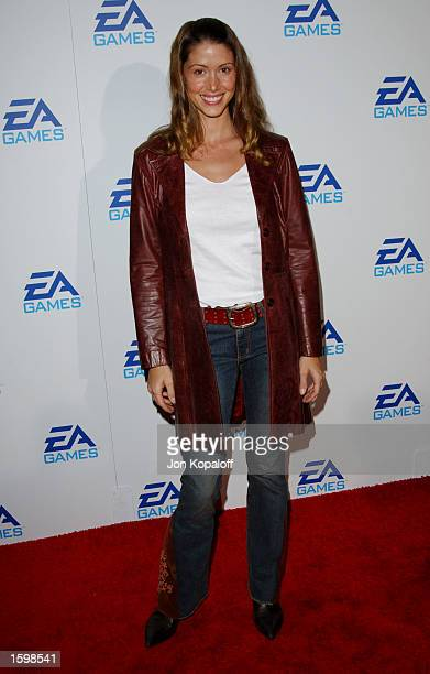 Actress Shannon Elizabeth attends the EA Games launching three new video games Harry Potter And The Chamber of Secrets James Bond 007Nightlife and...