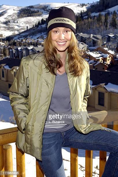 Actress Shannon Elizabeth enjoys the Reebok Spa during the Sundance Film Festival in Park City Utah