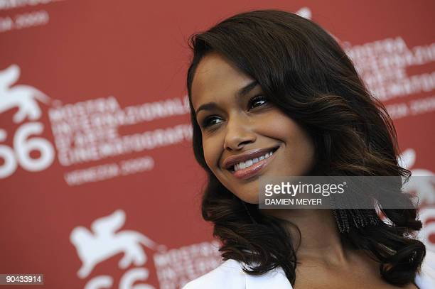 """Actress Shannon Kane poses during the photocall of """"Brooklyn's finest"""" at the Venice film festival on September 8, 2009. """"Brooklyn's finest"""" is..."""