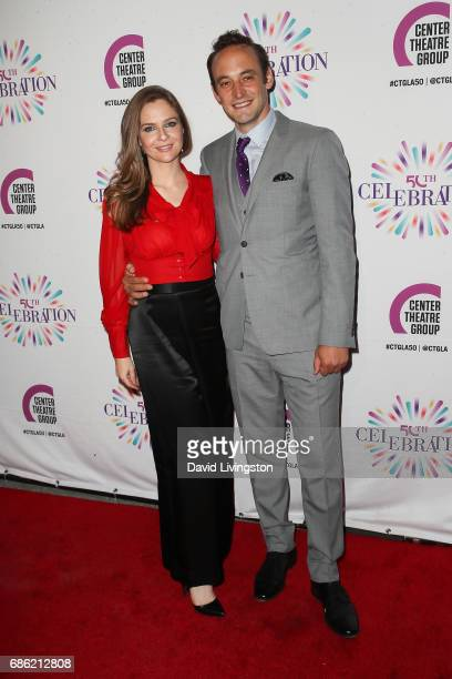 Actress Shannon Lucio and actor Charlie Hofheimer attend the Center Theatre Group's 50th Anniversary Celebration at the Ahmanson Theatre on May 20...