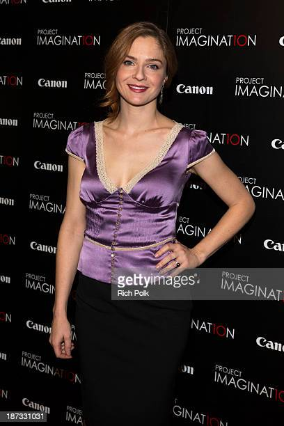 Actress Shannon Lucio arrives at Canon's Los Angeles Screening Of The Project Imaginat10n Film Festival at Pacific Theaters at the Grove on November...