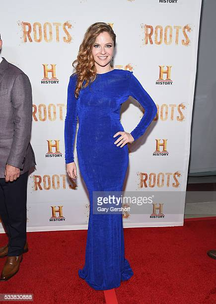 Actress Shannon Lucio attends the Roots night one screening at Alice Tully Hall Lincoln Center on May 23 2016 in New York City