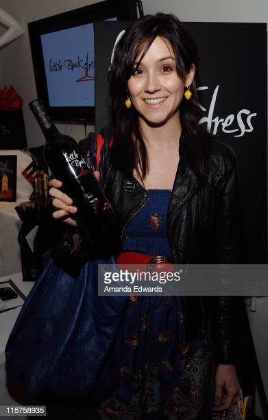 Actress Shannon Marie Woodward poses at Little Black Dress Wines at Kari Feinstein Golden Globes Style Lounge held at Zune LA on January 9, 2009 in...