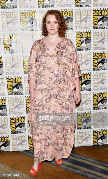 Actress Shannon Purser at Netflix's 'Stranger Things' Press line during ComicCon International 2017 at Hilton Bayfront on July 22 2017 in San Diego...