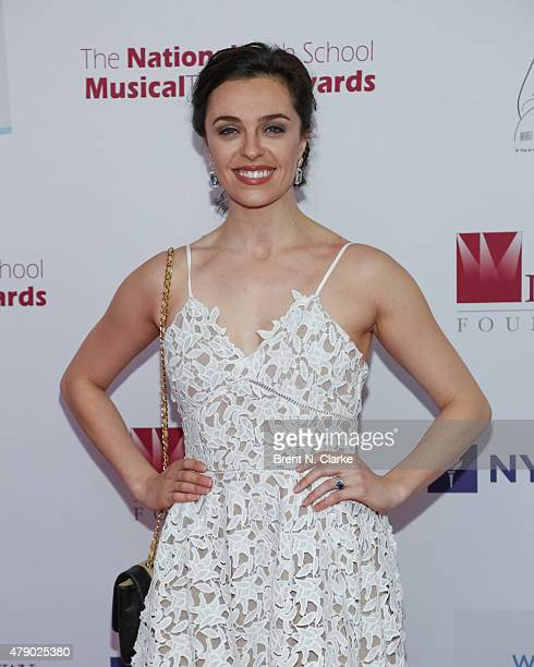 Actress Shannon Rugani arrives for the Seventh Annual National High School Musical Theater Awards held at Minskoff Theatre on June 29 2015 in New...