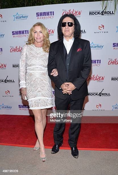 Actress Shannon Tweed and musician Gene Simmons of KISS attend the First Annual Gala for The Children MatterNGO on November 7 2015 in Beverly Hills...