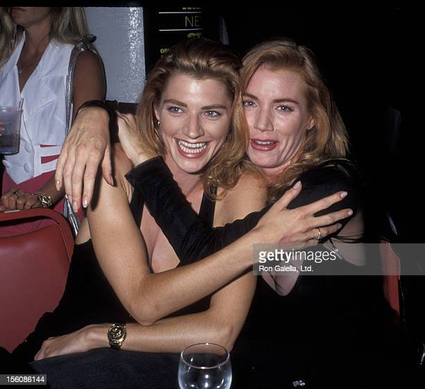 Actress Shannon Tweed and sister Tracy Tweed attending the premiere party for 'Bill Ted's Bogus Journey' on July 11 1991 at the Hollywood Palladium...