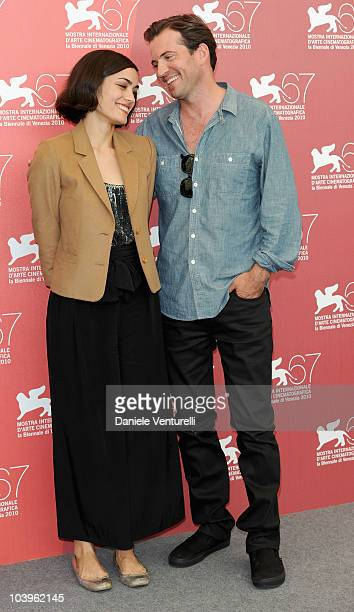 Actress Shannyn Sossamon and actor Tygh Runyan attend the Road To Nowhere photocall at the Palazzo del Casino during the 67th Venice International...